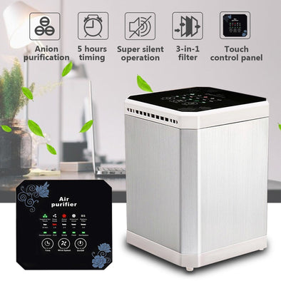 Ionizer Air Purifier Negative Ionizer Timing Quiet Activated Carbon Air Filter for Home Office - BC&ACI