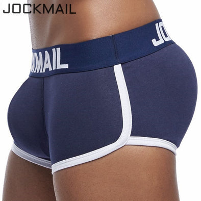 JOCKMAIL Brand sexy men underwear bulge enhancing men Boxer include Penis pad and hips buttocks double Removable push up cup - BC&ACI