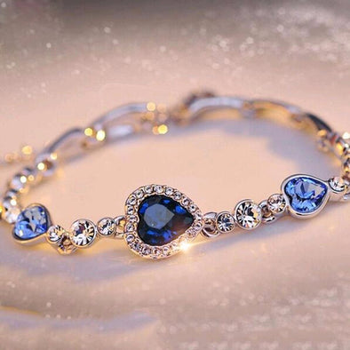 New KISSWIFE Hottest Womens Ladies Crystal Rhinestone Bangle Ocean Blue - BC&ACI
