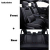 KOKOLOLEE Luxury Leather Car Seat Covers Universal Cayenne Black Car Seat Covers - BC&ACI