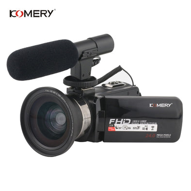 New KOMERY Video Camera 1080P Full HD Portable Digital Video Camera 16X - BC&ACI