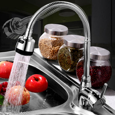 Kitchen 360 Degree Rotatable Pull Down Spray Mixer Tap Spout Single Handle Sink Basin - BC&ACI