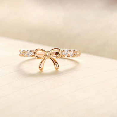 Korean Jewelry rings 2018 ladies new fashion design Simple Crystal