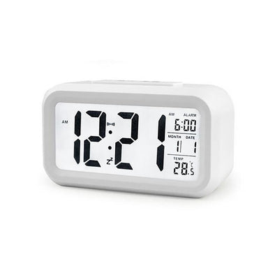 New LCD Display Digital Alarm Clock Time Snooze Function Electronic - BC&ACI