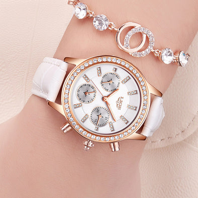 New High-Quality Women's LIGE Leather and Quartz Watch - BC&ACI