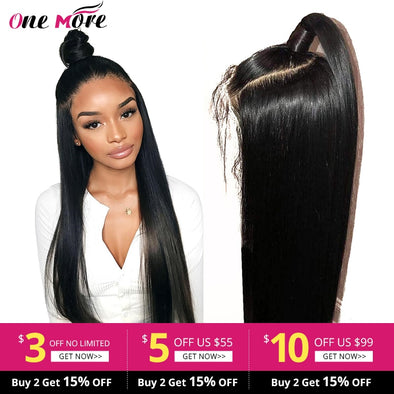 Lace Front Human Hair Wigs Straight Pre Plucked Hairline Baby Hair 8-26 Inch 13x4 - BC&ACI