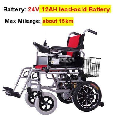 Lead-Acid Battery Electric Wheelchair With Storage Basket