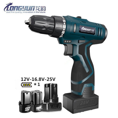 Longyun Rechargeable Lithium Battery cordless Electric Drill bit 12V 16.8V 25V Electric Screwdriver