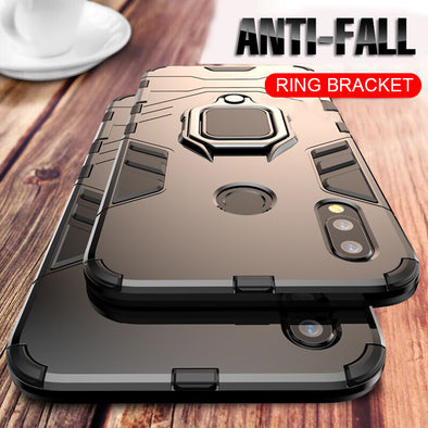 Luxury Armor Ring Case For Huawei P20 Pro P20 Phone Case Cover For Huawei P20 Lite Anti-Fall - BC&ACI