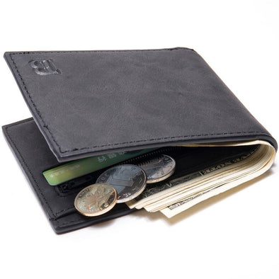 New Men Wallets Fashion Dollar Slim Purse Money Clip Short Money Purses PU Leather - BC&ACI