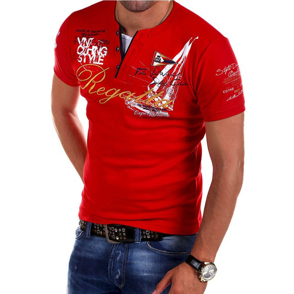 New Men's Fashion Personality Cultivating Short-sleeved T Shirt - BC&ACI