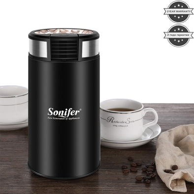 New Mini Electric Coffee Grinder maker Beans Mill Herbs Nuts Sonifer - BC&ACI