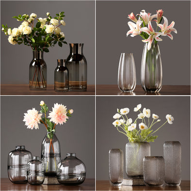 New Modern glass vase Crafts terrarium glass containers Tabletop  flower vase - BC&ACI