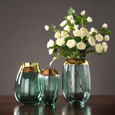 New Modern luxury glass vases Grey/green terrarium glass containers - BC&ACI