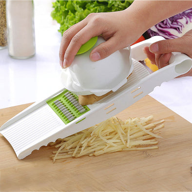 Myvit Vegetable Cutter with Steel Blade Mandoline Slicer Potato Peeler Carrot Cheese Grater - BC&ACI