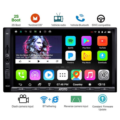 New ATOTO A6 Double din Android Car GPS Navigation Stereo Player/Dual Bluetooth - BC&ACI