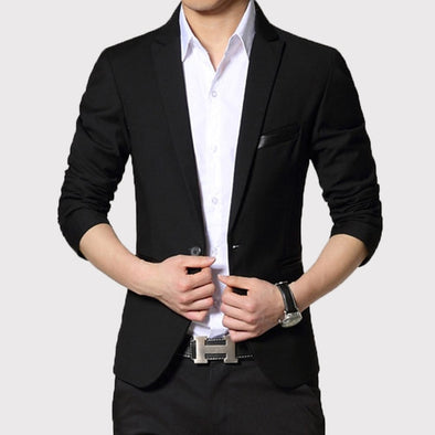New high quality Men Suit Single Button Leisure Blazers Jacket - BC&ACI