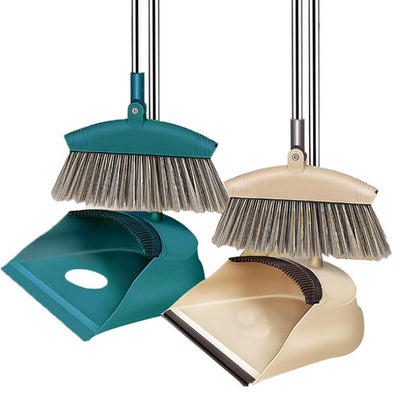New Broom Dustpan Set Combination with a Scraping Brush Soft Hair Magic Broom for Sweeping Hair Household Drop Shipping