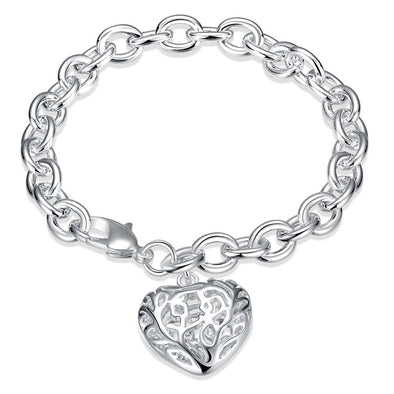 New Hot Silver Solid Color Bracelets For Women Fashion Women Jewelry - BC&ACI