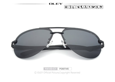 OLEY Aluminum Magnesium Polarized Sunglasses Men Driver Mirror Sun glasses - BC&ACI