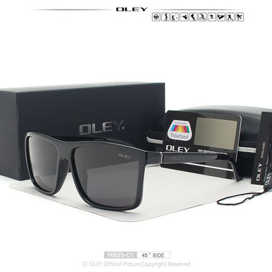 New OLEY Brand Vintage Style Sunglasses Men Classic Male Square Glasses - BC&ACI