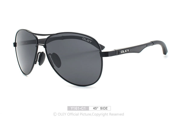 New OLEY Men classic aluminum-magnesium polarized pilot sunglasses - BC&ACI