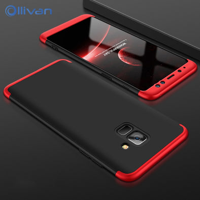 OLLVAN Full 360 Protection Cover For Samsung Galaxy A8 Plus Case Hard Plastic