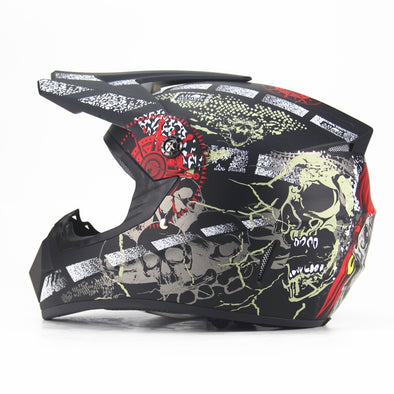 Off Road  Motorcycle & Moto Dirt Bike Motocross Racing Pirate Helmet New In Stock - BC&ACI