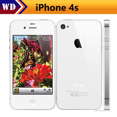 Original Factory Unlocked Apple iPhone 4S IOS Dual Core 8MP WIFI GPS WCDMA 3.5inch