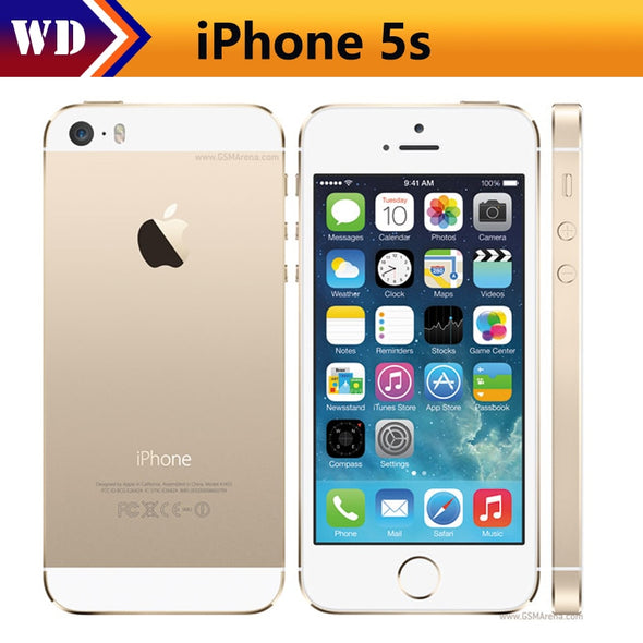 "Original iPhone 5s Unlocked Apple 5s Smartphone 4.0"" 640x1136px A7 Dual Core 16GB/32GB /64GBROM"