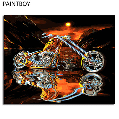 PAINTBOY Framed Picture Painting & Calligraphy DIY Oil Painting By Numbers Kit Paint - BC&ACI