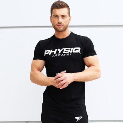 PHYSIQ brand Men cotton t shirts fashion Casual gyms Fitness Bodybuilding workout tops - BC&ACI