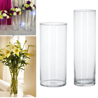 Plastic Clear Round Cylinder Vase Bottle Hanging Vase For Plant Flower - BC&ACI