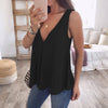 Plus Size Casual Style Women Chiffon Blouse Sleeveless Tops Strappy Tunic Ladies