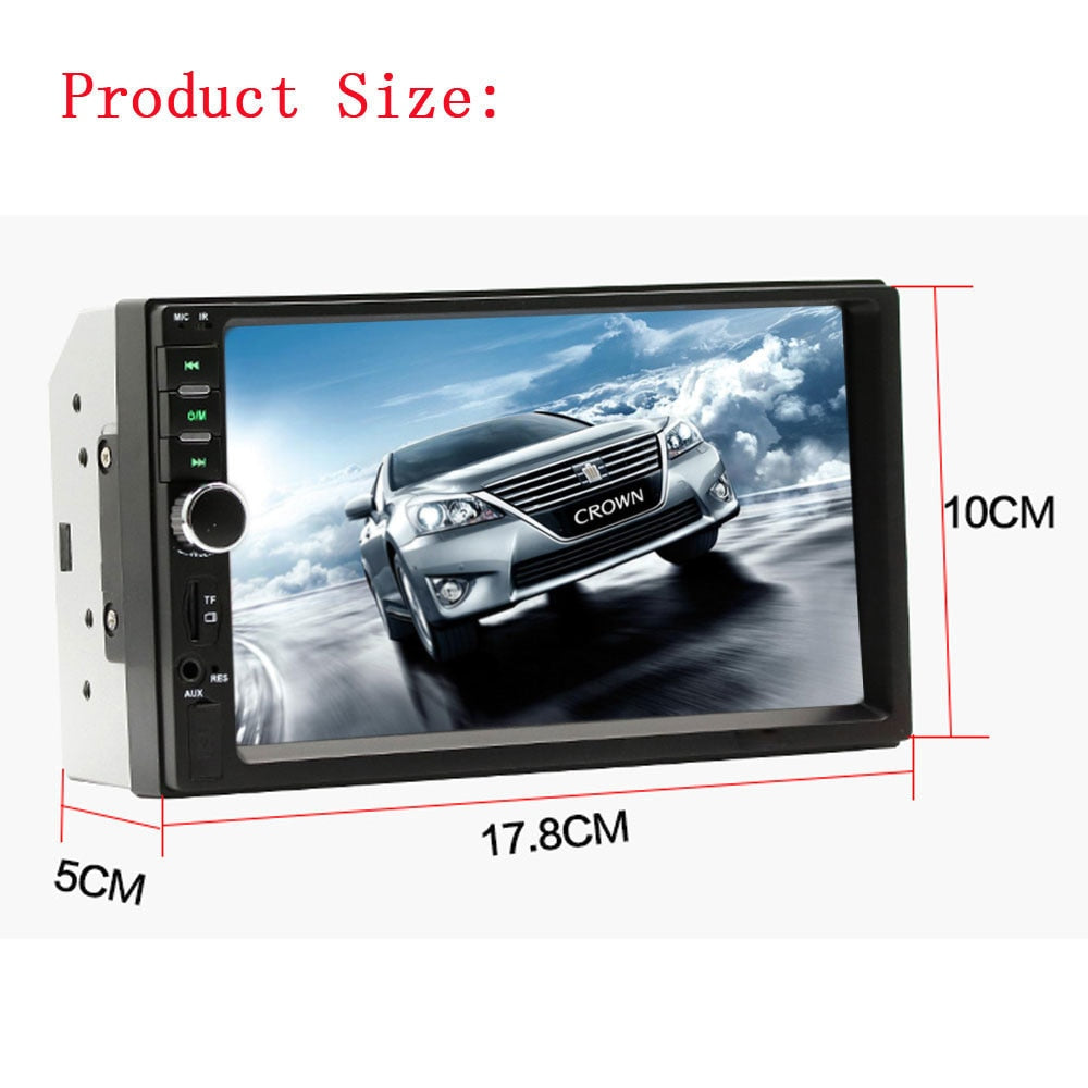 "podofo 2 din car radio autoradio car models 7"" touch screen radiopodofo 2 din car radio autoradio car models 7\"" touch screen radio player bluetooth"