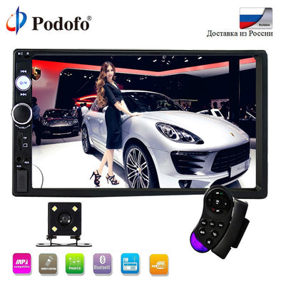 "Podofo 2 din car radio Bluetooth audio Multimedia Player 7"" - BC&ACI"