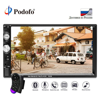 Podofo 7'' Car Radio 2Din Audio Stereo autoradio FM Bluetooth Steering Wheel Remote - BC&ACI