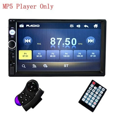 "Podofo 7"" Touch Autoradio 2 Din In Dash Car Radio Digital Player MP5 Bluetooth USB - BC&ACI"