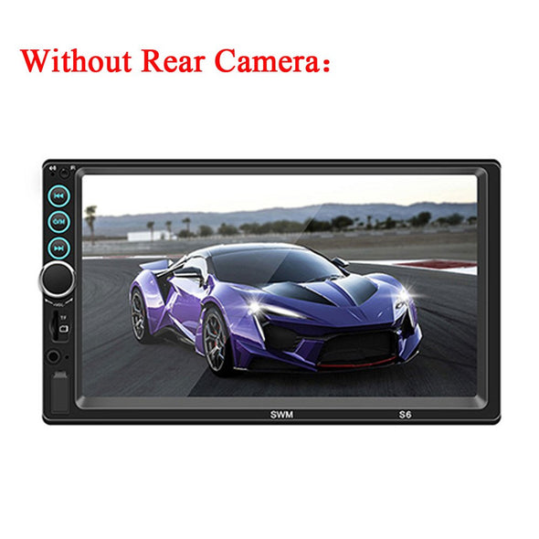 Podofo 7'' Universal 2 Din Car Radio Bluetoot MP5 Multimedia Player FM Mirror Link Video - BC&ACI