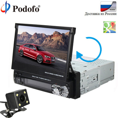 "Podofo Car audio 7""HD Car MP5 Player GPS autoradio 2Din Touch Screen"