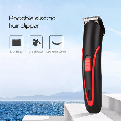 Portable Rechargeable Hair Clipper Electric Cordless Mini Hair Trimmer Pro Hair Cutting - BC&ACI