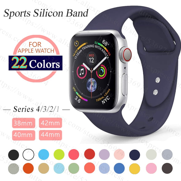 ProBefit soft Silicone Sports Band for Apple Watch 4 3 2 1 38MM 42MM Bands Rubber - BC&ACI
