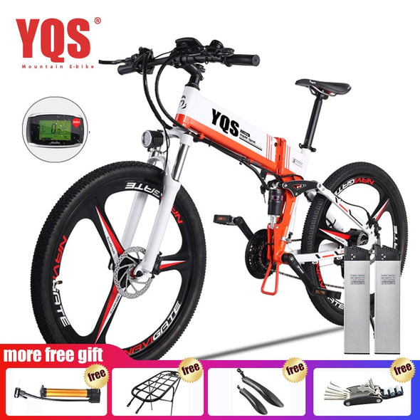 "QYS Electric Bike 21 Speed 350W 110KM Built-in Lithium battery ebike electric 26"" Off - BC&ACI"