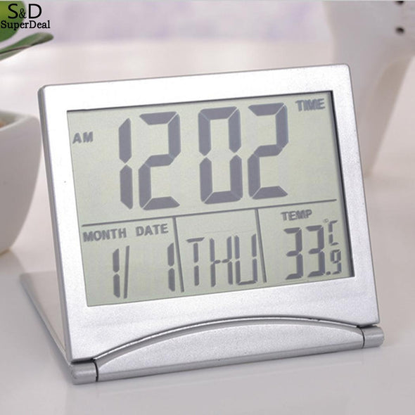 Rectangle Hygrometer Digital Thermometer LCD Included x Electronic Clock Timer Battery - BC&ACI