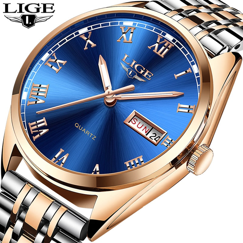 5d0617038 Relogio Masculino 2019 New LIGE Mens Watches Top Brand Luxury Date Spo –  BC ACI
