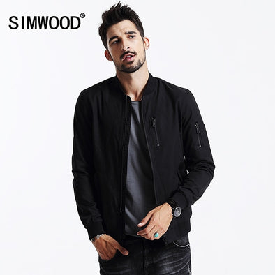 SIMWOOD brand clothing 2019 NEW autumn  Winter Windbreaker Men Coat bomber jacket - BC&ACI