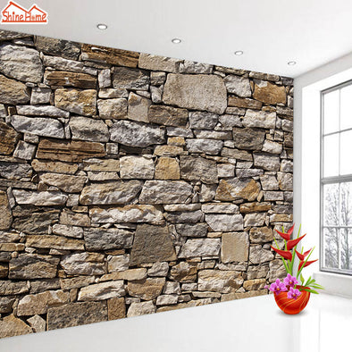ShineHome-Home Decor Brick Stone Wallpapers for 3 d Walls Living Room Mural Rolls
