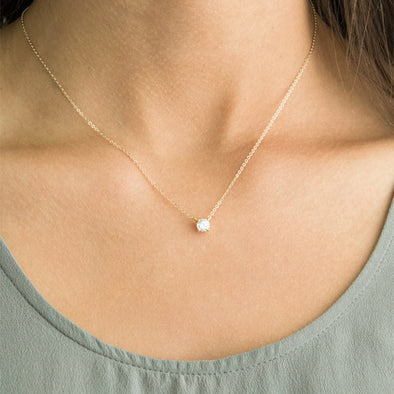 New Shiny Zircon Invisible Transparent thin Line Simple Necklace - BC&ACI