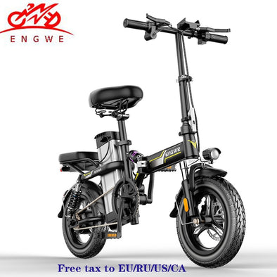 Smart Folding Electric Bike 14inch Mini Electric Bicycle 48V30A/32A LG Lithium Battery