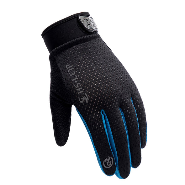 New Sports Anti Slip Breathable Windproof Downhill Road Gloves Outdoor Cycling Full Finger Gloves Bicycle Bike Motorcycle - BC&ACI